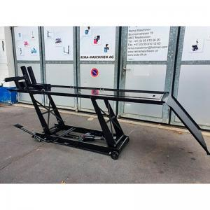 Motorradlift Hydraulik mit luxuriöser Vorderradklemme Rema-Maschinen AG
